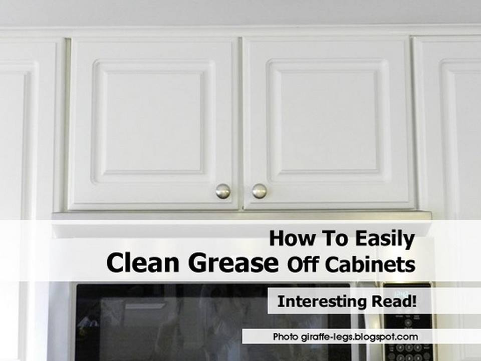 Bon How To Easily Clean Grease Off Cabinets!