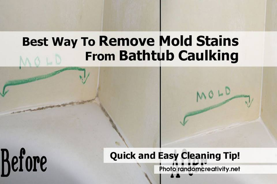 best way to remove mold stains from bathroom caulking cleaning